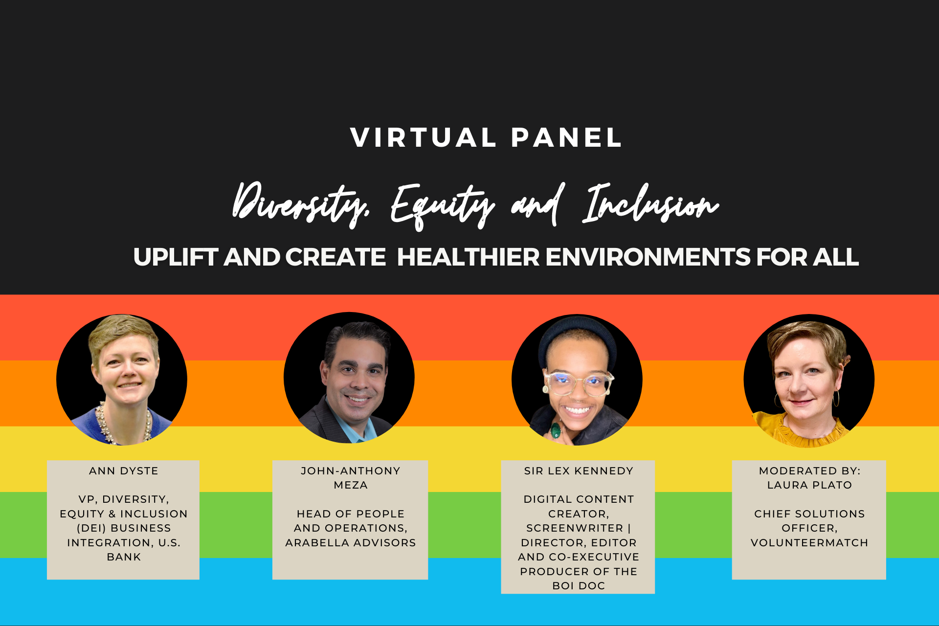 Diversity, Equity, and Inclusion — Uplift and Create Healthier Environments for All_Panelist_Website