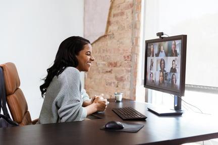 Woman Meeting Virtuallly